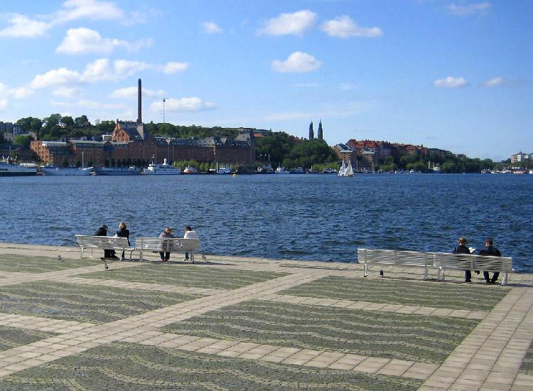 Стокгольм. Набережная озера Меларен