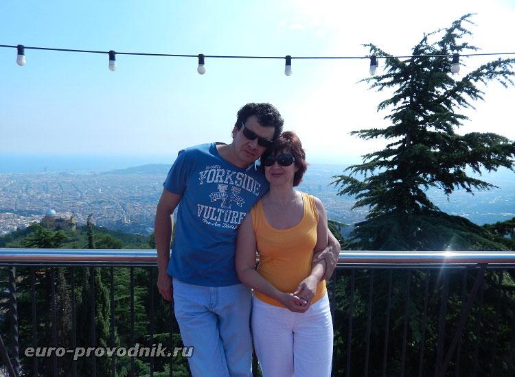 Покоряем с мужем Тибидабо в Барселоне