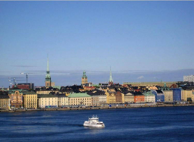 Стокгольм. Вид на исторический центр