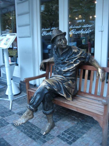 Скульптура на Вацлавской площади