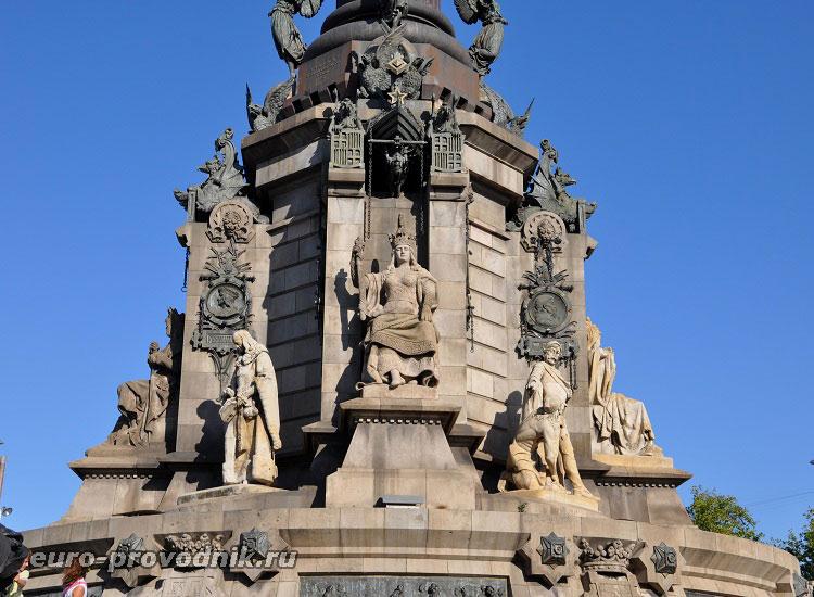 Постамент памятника Колумбу