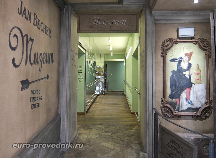 Начало экскурсии по музею Бехера