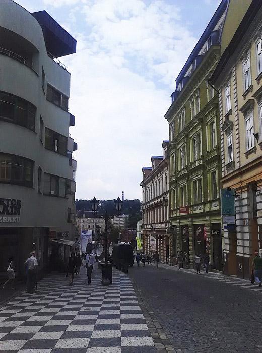 Московская улица. Город Либерец