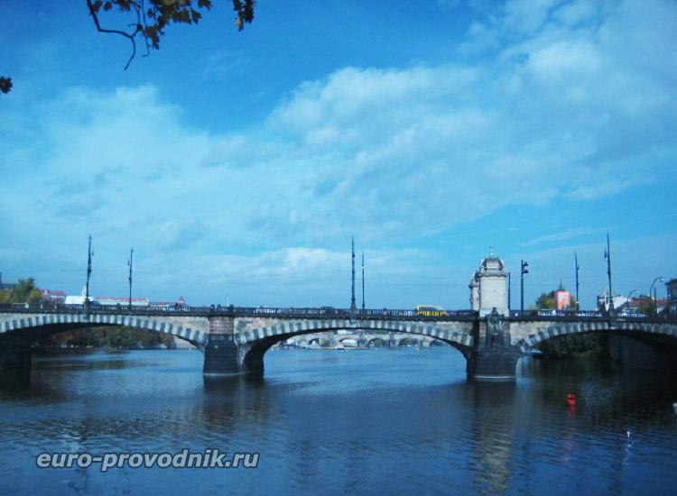Мост Легионов. Вид с острова Жофин