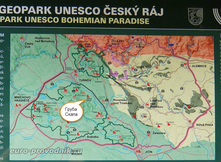 Карта Чешского Рая