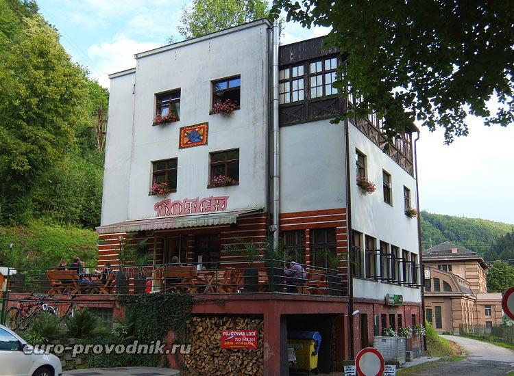 Ресторан и отель в конечной точке Риегровой стежки