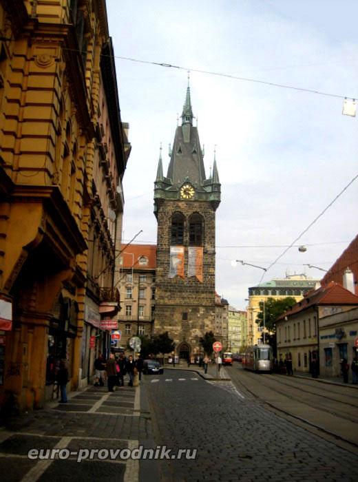 Йиндржишская улица и башня