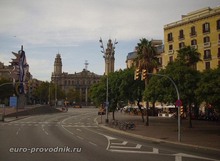 Въезд в квартал Барселонета