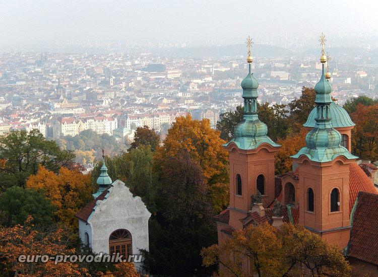 Виды Праги с обзорной вышки Петршин
