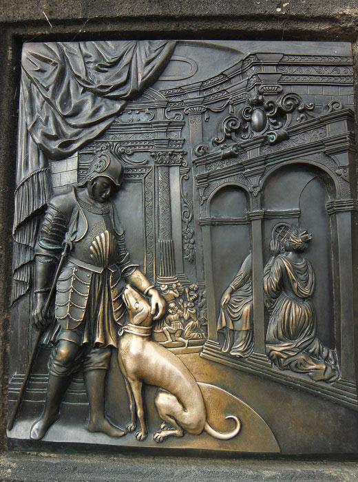 Скульптура Яна Непомуцкого. Барельеф