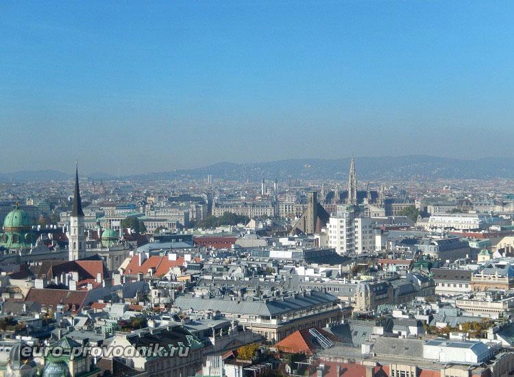 Вена. Панорама города с башни Св. Стефана