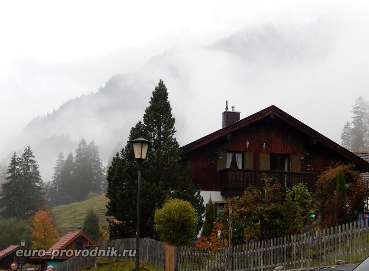 Этталь. Альпы в тумане