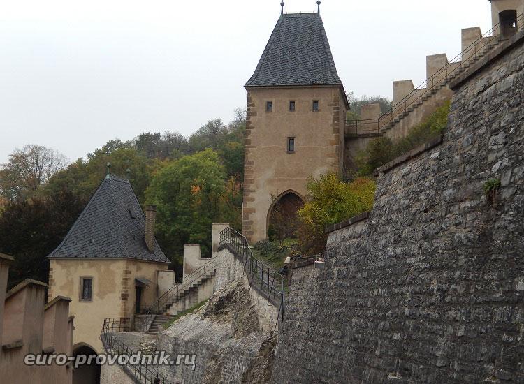 Укрепления замка Карлштейн