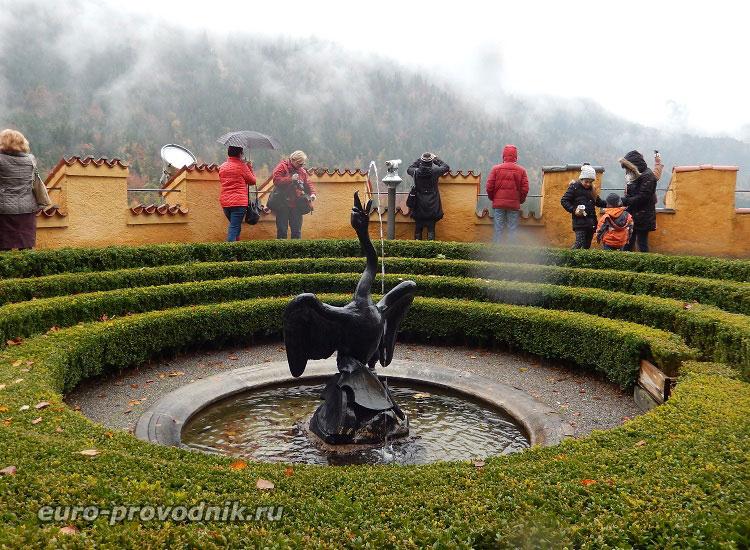 Главный фонтан Хоэншвангау