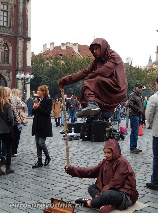 """""""Йоги"""" на Староместской площади"""