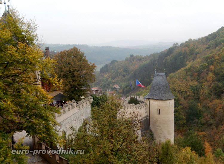 Стены крепости Карлштейн
