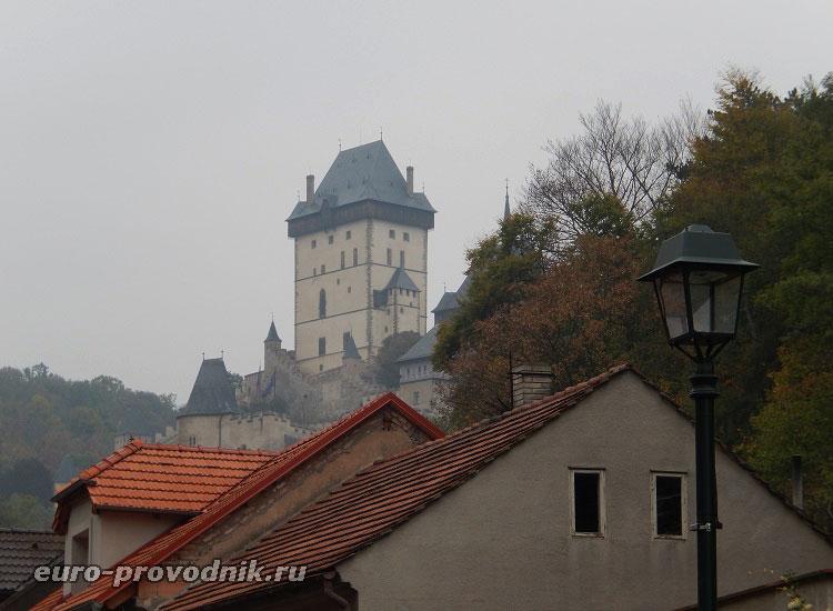 Первые виды замка Карлштейн