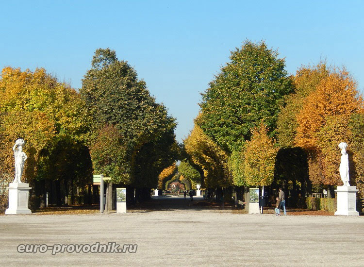 Симметрия парка Шенбрунн