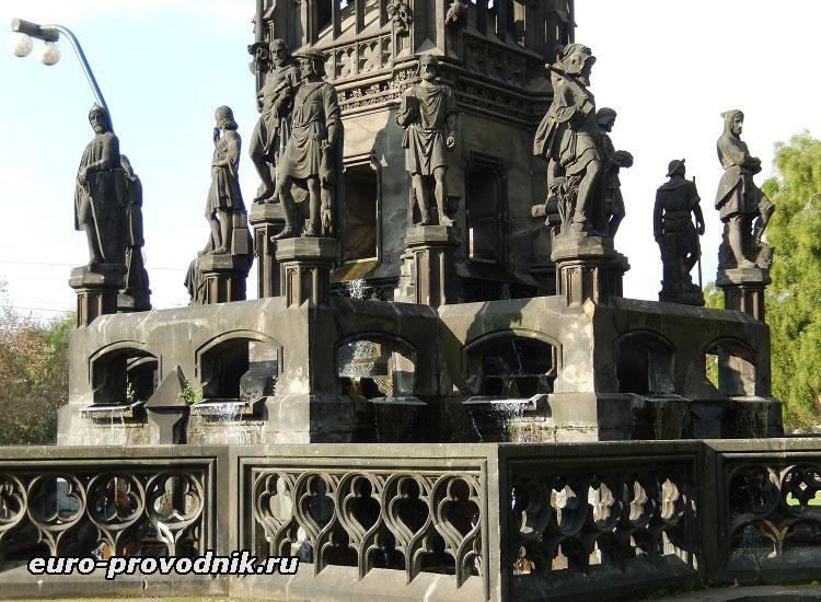 Образы Чешских земель в композиции фонтана