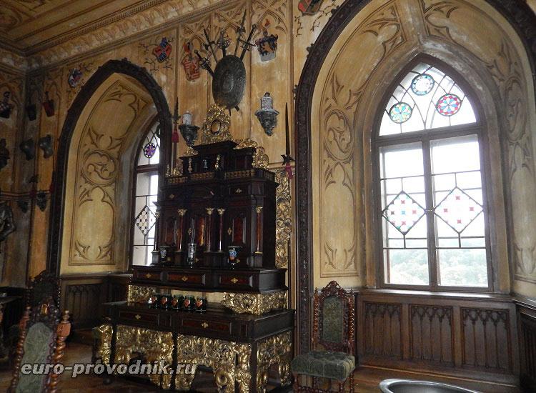 Интерьер замка Грубый Рогозец