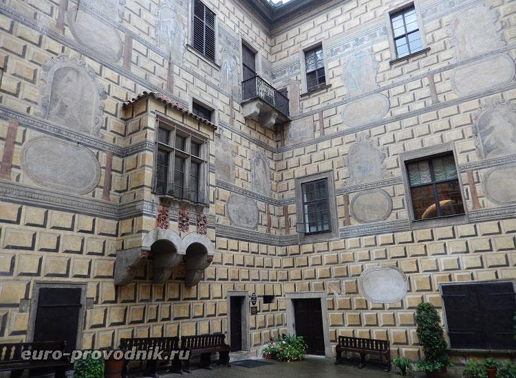 Четвертый двор Крумловского замка