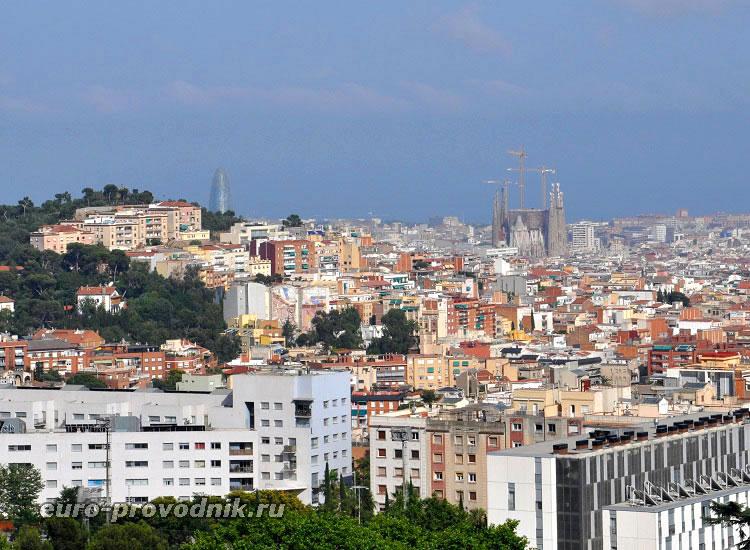 Барселона. Вид из парка Гуэль