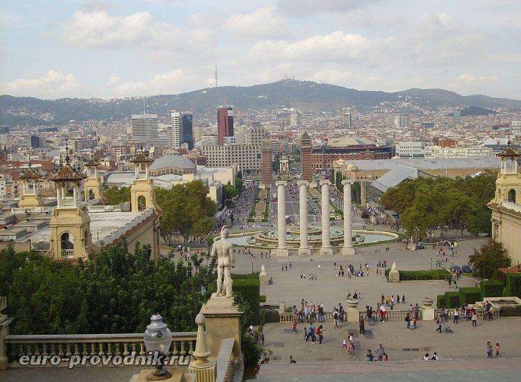 Виды Барселоны с горы Монтжуик