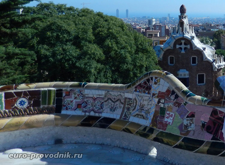 Волшебная архитектура парка Гуэль