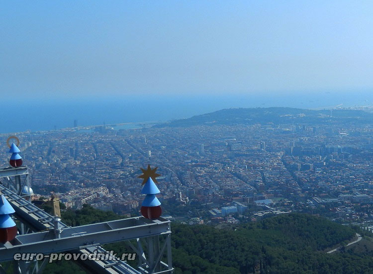 Виды Барселоны с высоты Тибидабо
