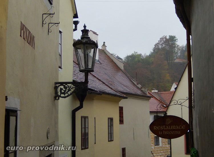 Средневековые улочки Чешского Крумлова