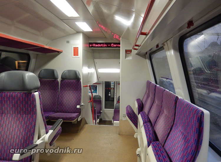 Вагон поезда, следующего в Карлштейн