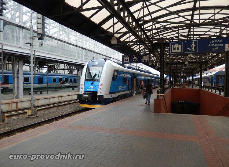 Поездки поездом в Чехии