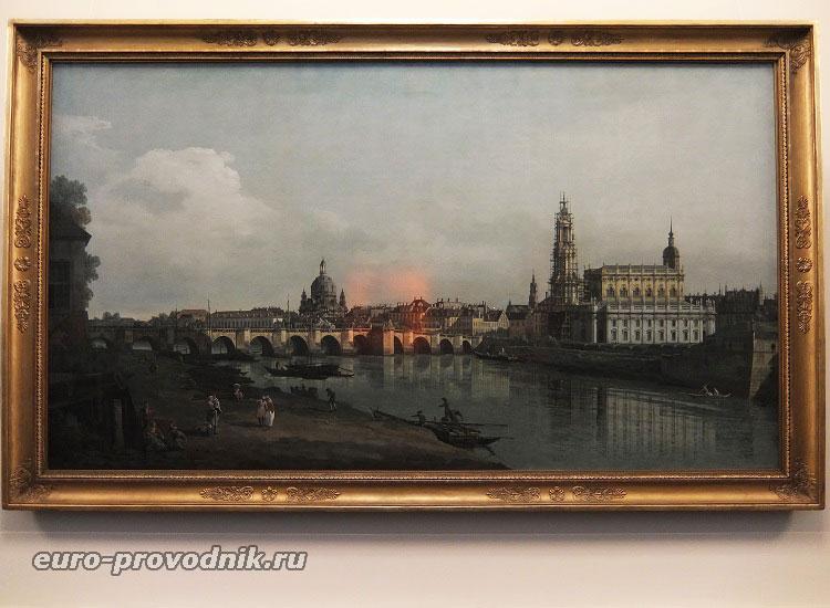 Виды Дрездена на картине Каналетто