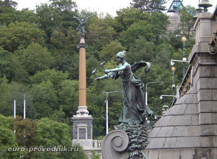 Скульптуры Чехова моста