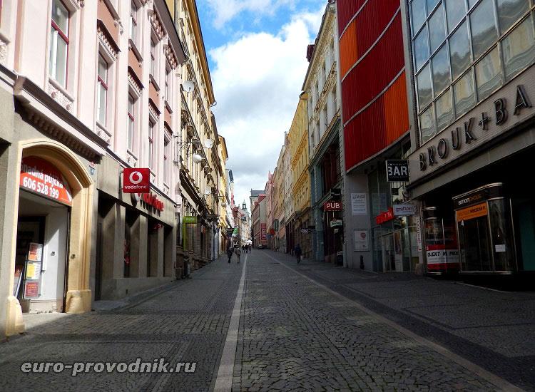 Улицы в Либерце