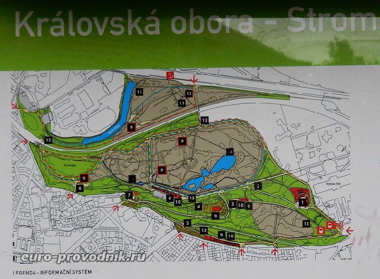 План парка Стромовка