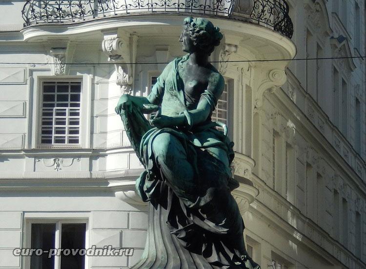 Центральная скульптура фонтана Доннера