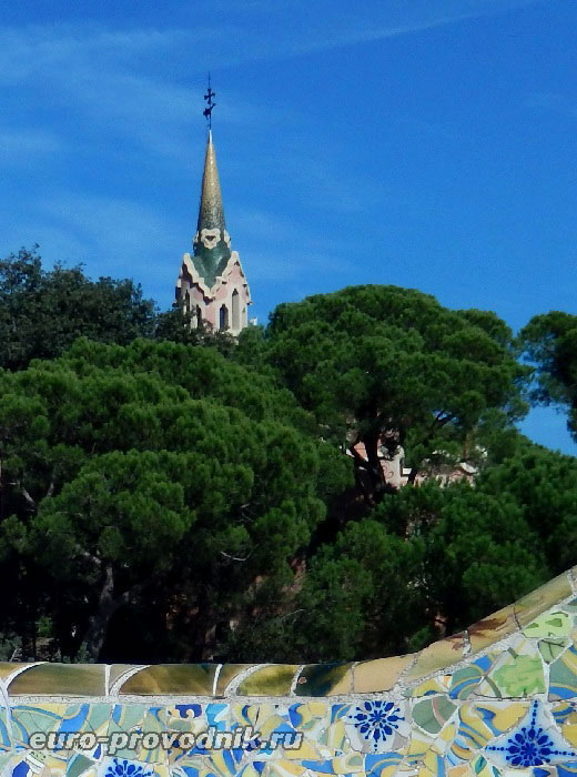 Башня музея Гауди в парке Гуэль
