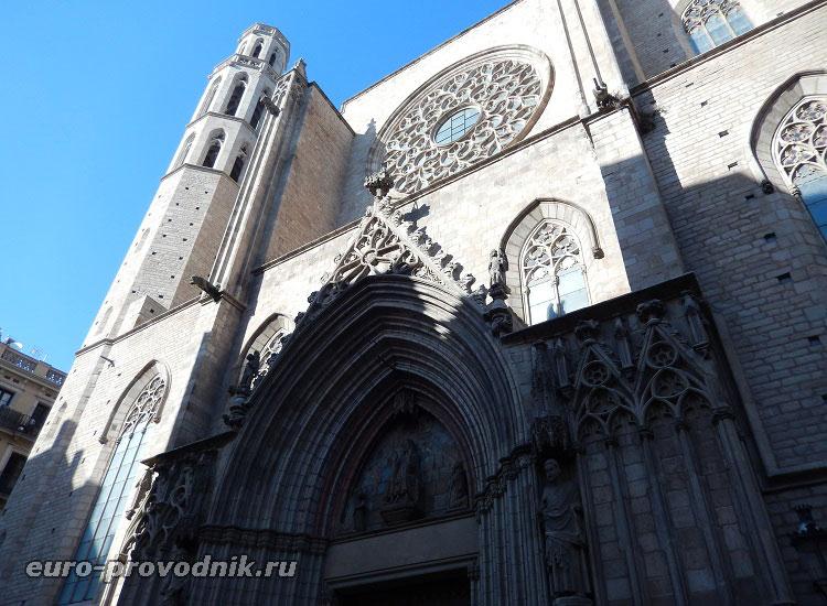 Фасад церкви Санта Мария дель Мар