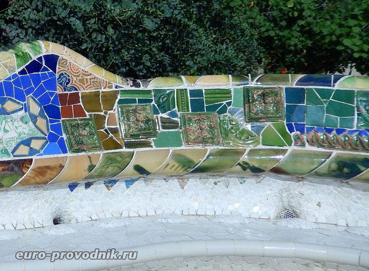 Мозаичная скамья - техника тренкадис