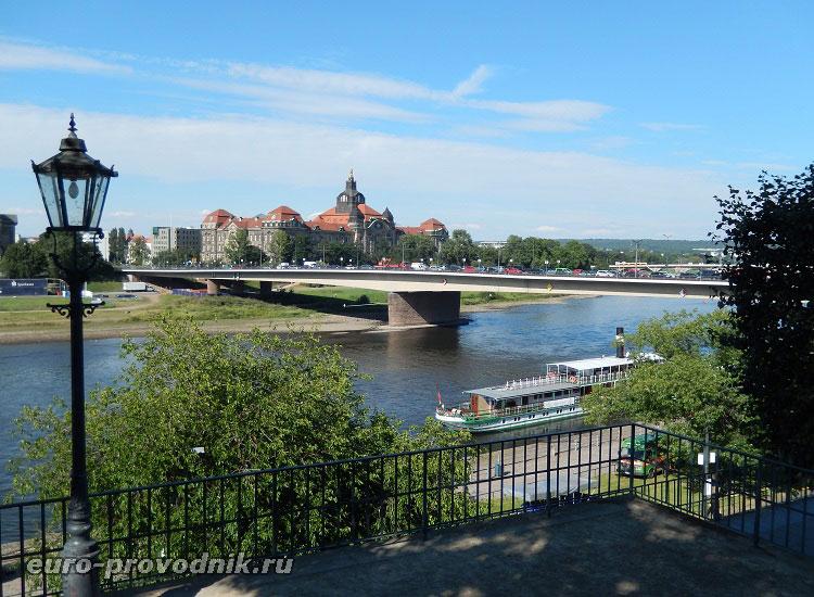 Река Эльба в Дрездене