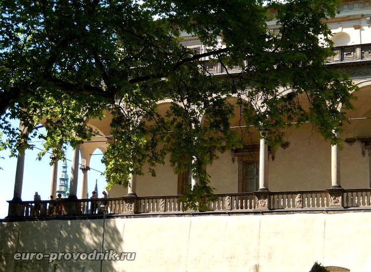 Вид на летний дворец со стороны нижнего парка