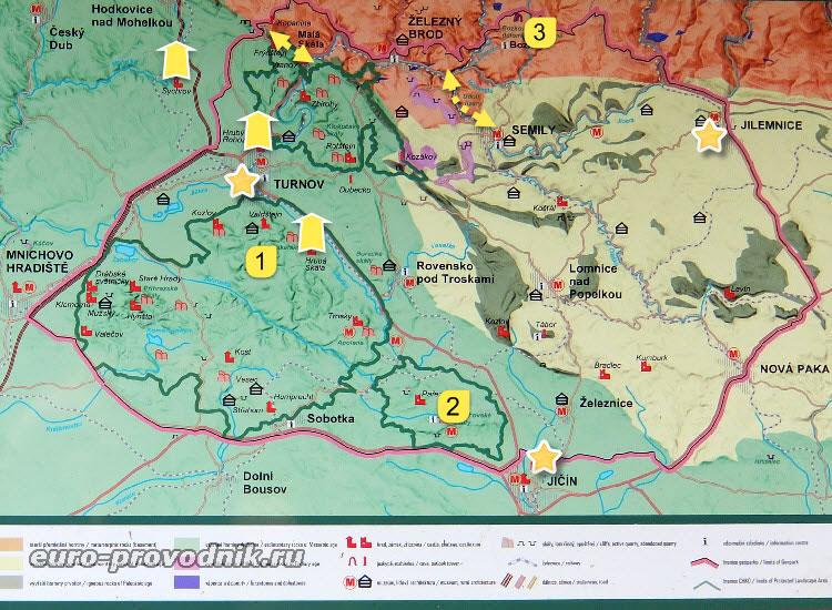 Карта достопримечательностей заповедника