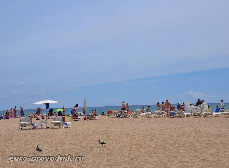 Пляж курорта Санта Сусанна
