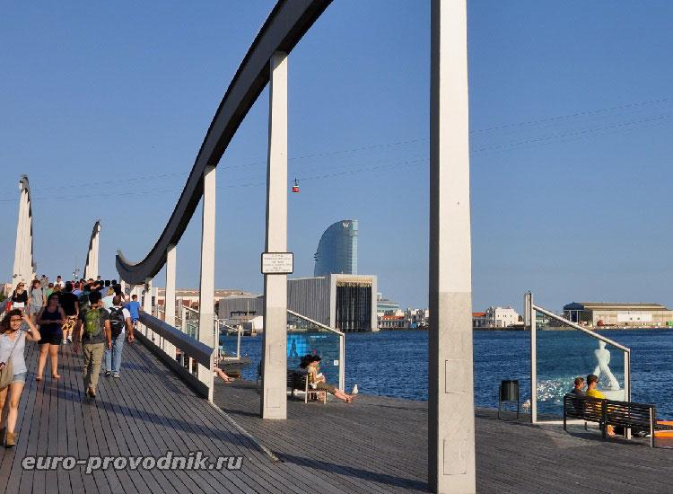 Пешеходный мостик Морская Рамбла