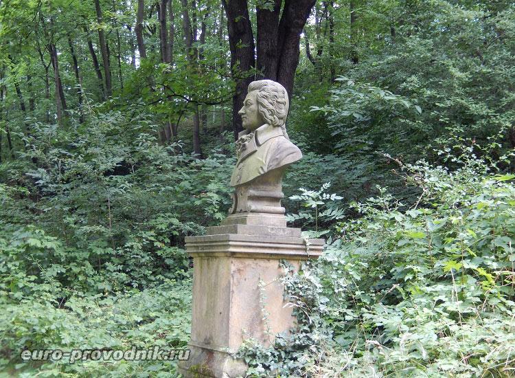 Бюст Моцарта на вилле Бертрамка