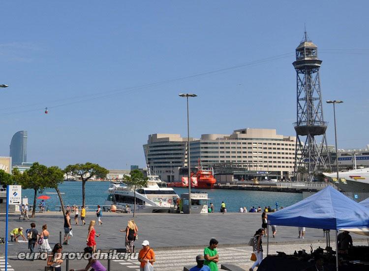 Башня Жауме I - опора канатной дороги