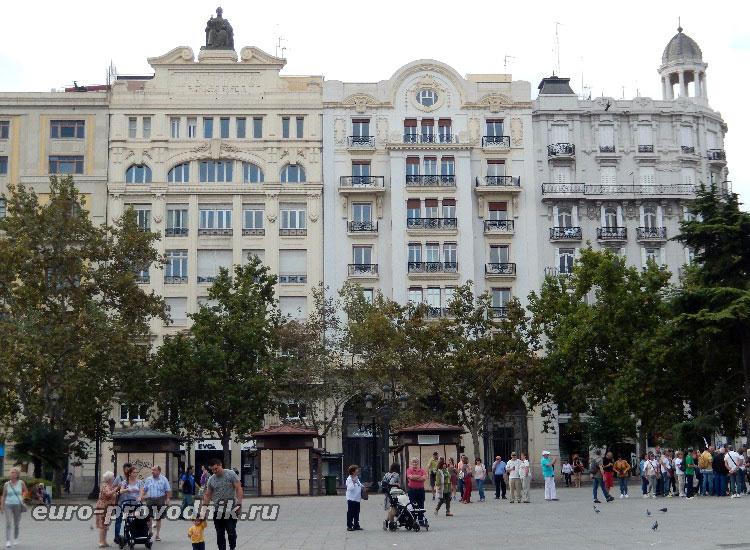 На площади Ayuntamiento
