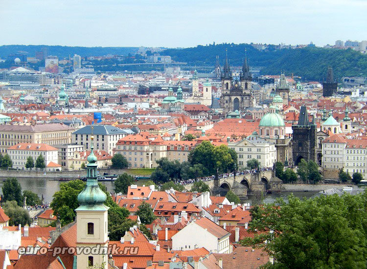 Прага. Вид на Карлов мост.