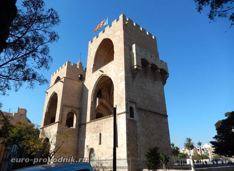 Torres de Serranos в Валенсии